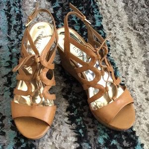 Guess Tan Wedge Heels